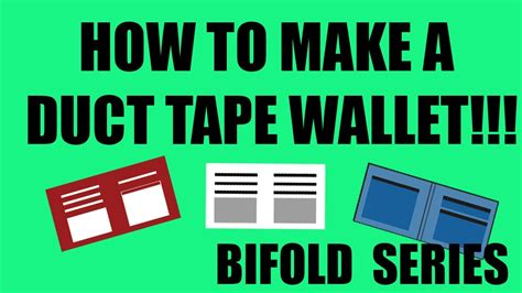How Do You Make A Wallet Out Of Paper - how to make a duct wallet bifold 1 hd template
