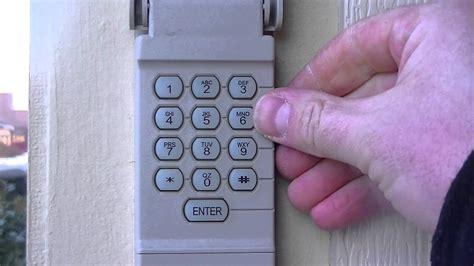 reset  garage door keypad pin number youtube