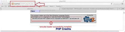 hydration zend how to install ioncube loader in xp localhost server