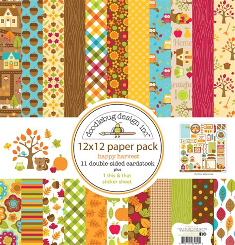 doodlebug scrapbook doodlebug design happy harvest collection 12 x 12