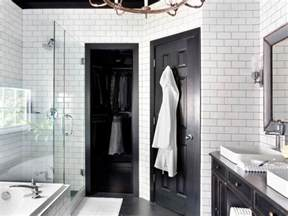 Black White And Bathroom Decorating Ideas by Timeless Black And White Master Bathroom Makeover Hgtv