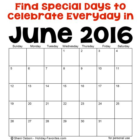 march 2016 bizarre and unique holidays holiday insights image gallery june special holidays