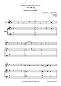 9th symphony easy flute sheet music by ludwig van beethoven flute