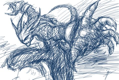 monstair attack a rough sketch from nightmarest