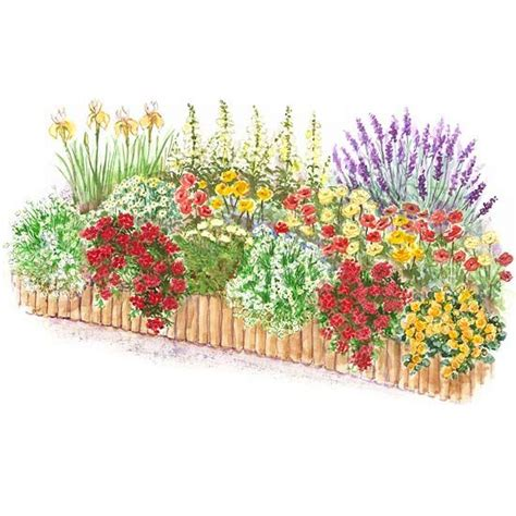 Flower Garden Plans Layout Color Flower Garden Plan