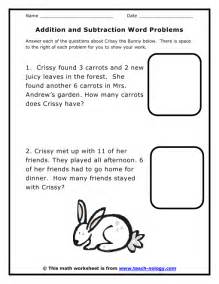 first grade math worksheets word problems second grade