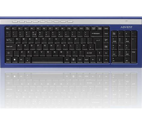 Keyboard Komputer Wireles buy advent akbwlbl15 wireless keyboard blue silver