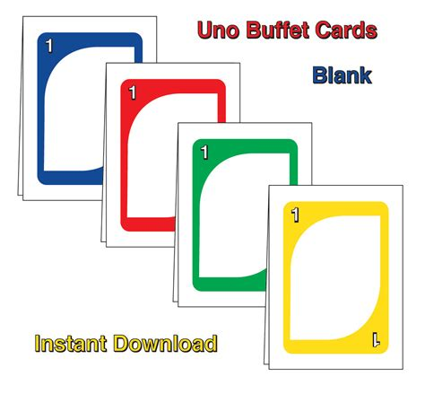 make your own uno cards uno buffet cards