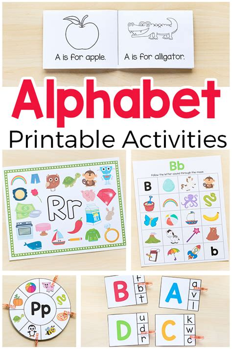 printable alphabet activities for toddlers alphabet printables and activities for preschool and