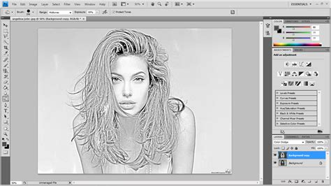 tutorial gambar pensil cara edit gambar berefek lukisan pensil tutorial photoshop