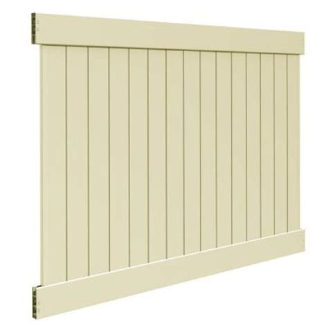 veranda 6 ft x 8 ft sand vinyl linden pro privacy fence