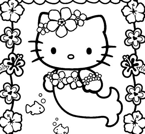 Hello Kitty Mermaid Coloring Pages Depetta Coloring Hello Mermaid Coloring Pages