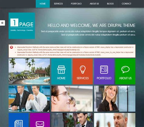 drupal themes review onepage drupal theme download review 2018