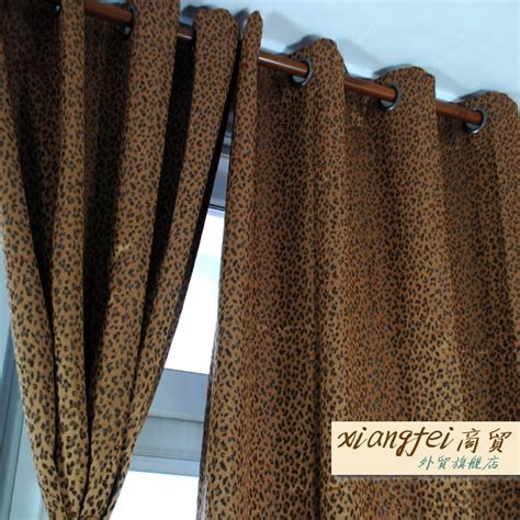 leopard curtain leopard curtains for living room decorate the house with