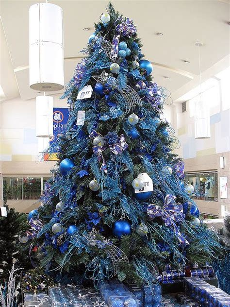 books and life blue and silver christmas tree s and