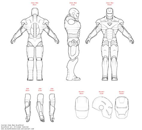 iron suit template suit blueprints iron mans armory iron