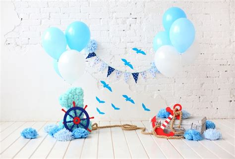 huayi st newborn photography backdrop  picture birthday backgrounds baby shower boy blue