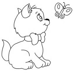 kitten coloring page free coloring pages of kittens and puppies