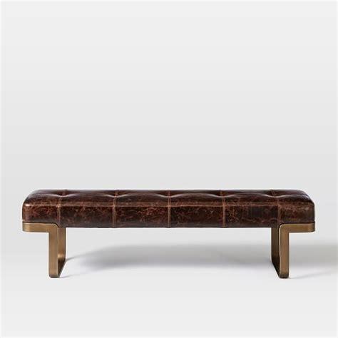 west elm bench ziggy leather bench west elm