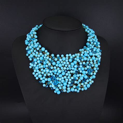 exotic nigerian beaded necklace design collier 2015 handmade beaded necklace big chunky luxury