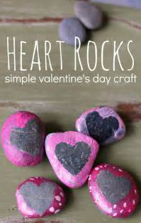 heart rocks valentine s day craft no time for flash cards