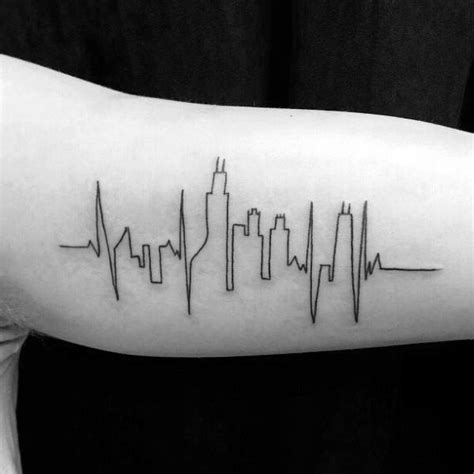 20 chicago skyline tattoo designs for men urban center ink