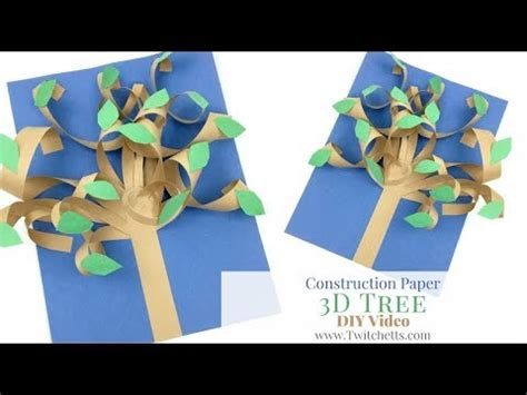 3d Construction Paper Crafts - 3d paper tree construction paper crafts for
