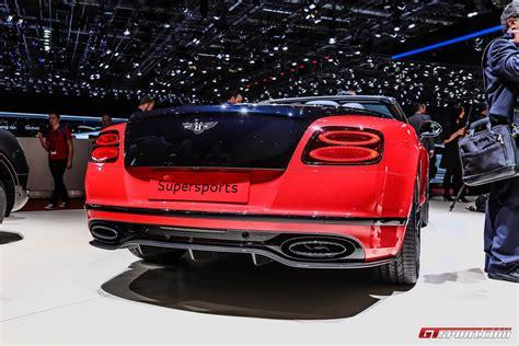 Bentley Continental Supersport Convertible geneva 2017 bentley continental supersports coupe