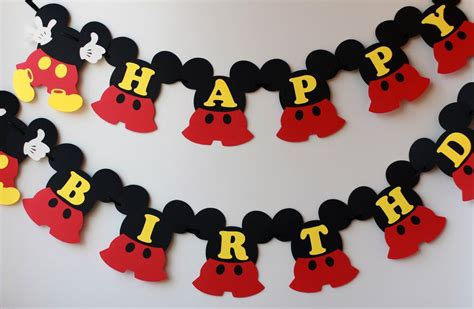 Banner Mickey Mouse Bunting Flag Mickey Mouse mickey mouse birthday banner mickey banner mickey mouse birthday decorations mickey