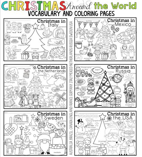 coloring pages for christmas in sweden christmas around the world coloring pages and vocabulary