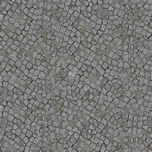 Damaged street paving cobblestone texture seamless 07444