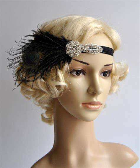 how to make a grate gatsby headpieces flapper feather black headband the great gatsby 1920s flapper