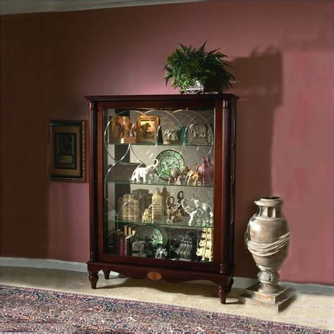 Mantel Curio Cabinet By Pulaski Pulaski Cardigan Mantel Curio Cabinet 20703