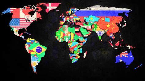 world map with countries flag медицинский интернационал куда можно поехать работать за