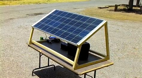 how to build a solar generator charging station survival