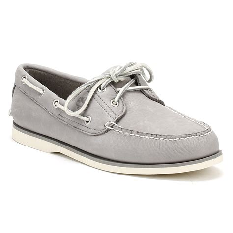 timberland mens grey boat shoes classic 2 eye design