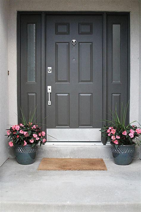 front porch facelift exterior door colors painted