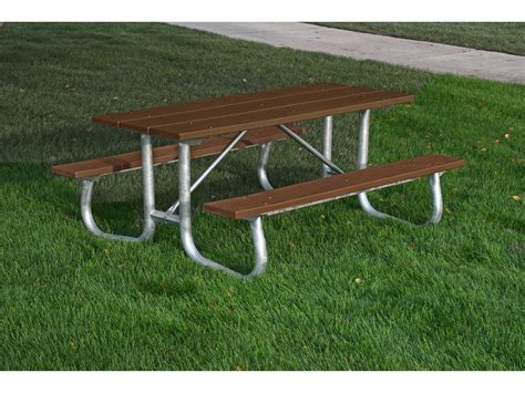 6 ft picnic table frog furnishings galvanized steel recycled plastic 6 ft