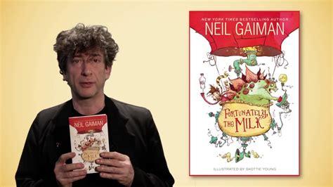 fortunately the milk neil gaiman s fortunately the milk book trailer something odd happened youtube