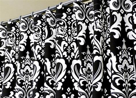 Black And White Damask Shower Curtain Decor Ideasdecor Ideas