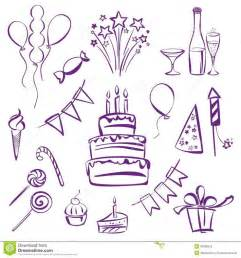 how to doodle ideas birthday theme clipart vector to draw