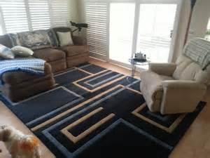 modern contemporary blue rug for living room modern