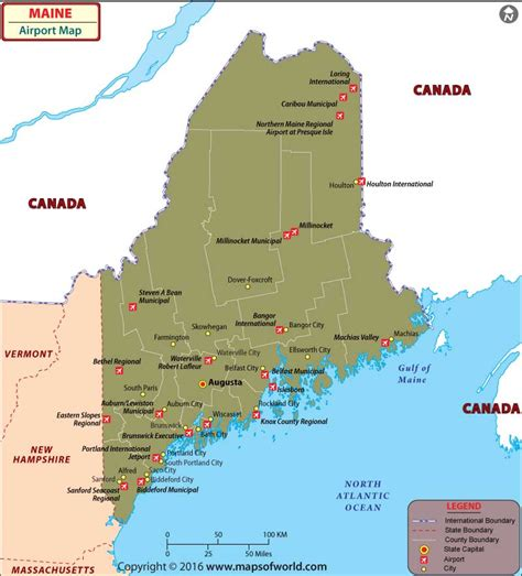 map airports usa maine history geography population state facts