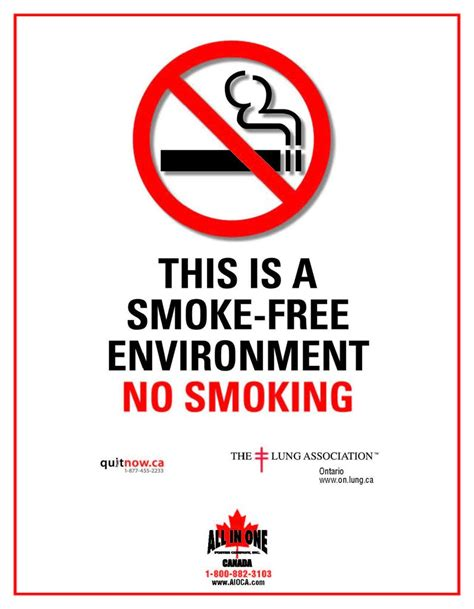 no smoking signs canada ontario no smoking sign all in one posters canada