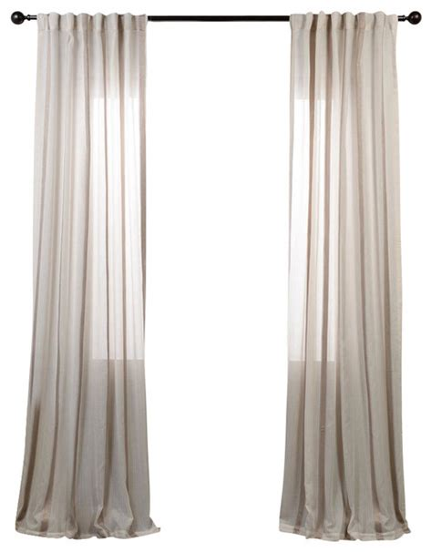 Gold Striped Curtains Antigua Gold Striped Linen Sheer Curtain Single Panel Contemporary Curtains By Half Price