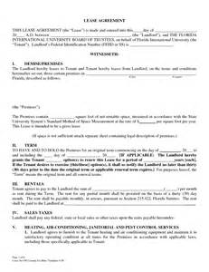 lease agreement template florida lease agreement template florida