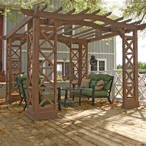 Patio Kits by Costco Uk Yardistry 3 7 X 3 7m Pergola Room Kit With