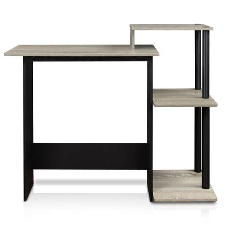 silver and black computer desk walker edison furniture company home office black desk
