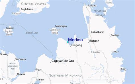 medina on world map medina tide station location guide