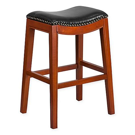 Cherry Backless Bar Stools by Buy Flash Furniture Wood 30 Inch Backless Bar Stool In